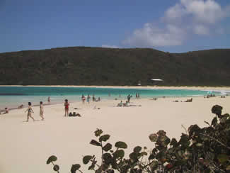 Looking towards the east on Flamenco Beach